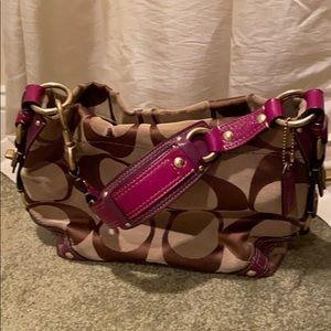 Coach purple Hobo bag